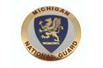 "Medallion, Michigan National Guard (1-5/8"" Diameter)"