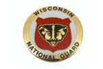 534890 Medallion, Wisconsin National Guard (1-5/8