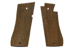Grips, 9mm, Checkered Wood
