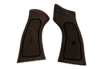 "Grips, Checkered Hardwood w/ Thumbrest -Frame Grip Size Dimension 3.275"" x 1.7"""