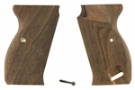 Grips, Walnut, Laser Cut-Checkered w/ Grip Screw & Escutcheon, Reproduction