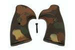 Grips, Square Butt, Pachmayr Presentation Camo - Desert Storm Brown/Tan Camo