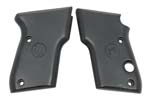 Grips, Smooth Black Plastic, Replacement (w/ Beretta Logo)