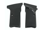 Grips w/ Thumbrest, Right Hand, Checkered Black Plastic, New Factory Original