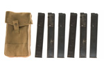 Magazine & Pouch Set - Includes 6 Original Sten 32 Round 9mm Magazines