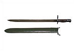Bayonet w/ Scabbard - New, Reproduction. 17&#39;&#39; Steel Blade w/ Blood Groove