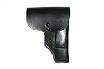 Flap Holster, Black Leather