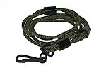 Lanyard,Heavy-Duty, Green Nylon (Incl Adj Rubber Bushings & Blued Clip Hardware)
