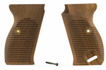 Grips, Walnut, Straight-Line w/ Grip Screw & Escutcheon, Reproduction
