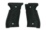 Grips, Black Plastic Wraparound w/ Textured Finish