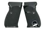 Grips, Black Plastic Grips w/ Escutcheons, Commercial, Late Issue