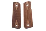 Grips, Walnut, Laser Checkered w/ Diamond Pattern &amp; Border, Replacement, New