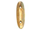 Buttplate, Gold Plated Crescent, Steel