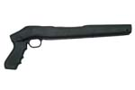 Stock w/Pistol Grip &amp; Trigger Guard Only, Black Painted Hardwood