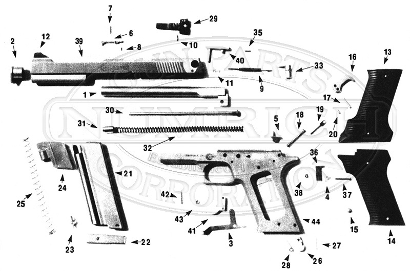 automag ii accessories | numrich gun parts automag parts diagram