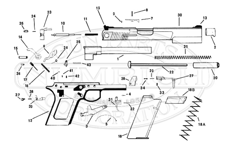 automag v. accessories | numrich gun parts automag parts diagram archery parts diagram