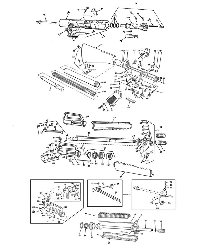 m16 parts list accessories