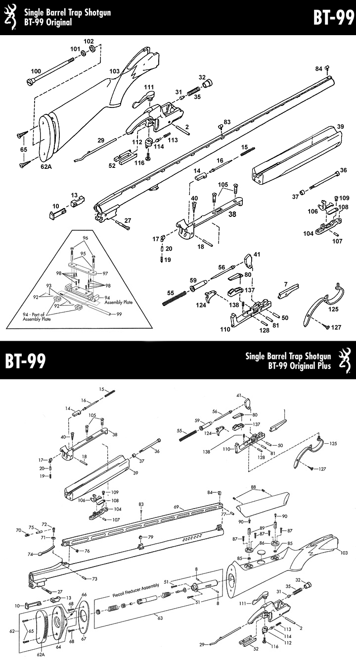 parts list bt99 accessories