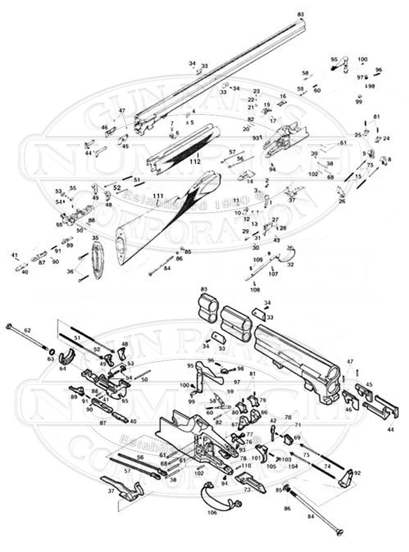 Parts List Superposed Accessories Numrich Gun Parts