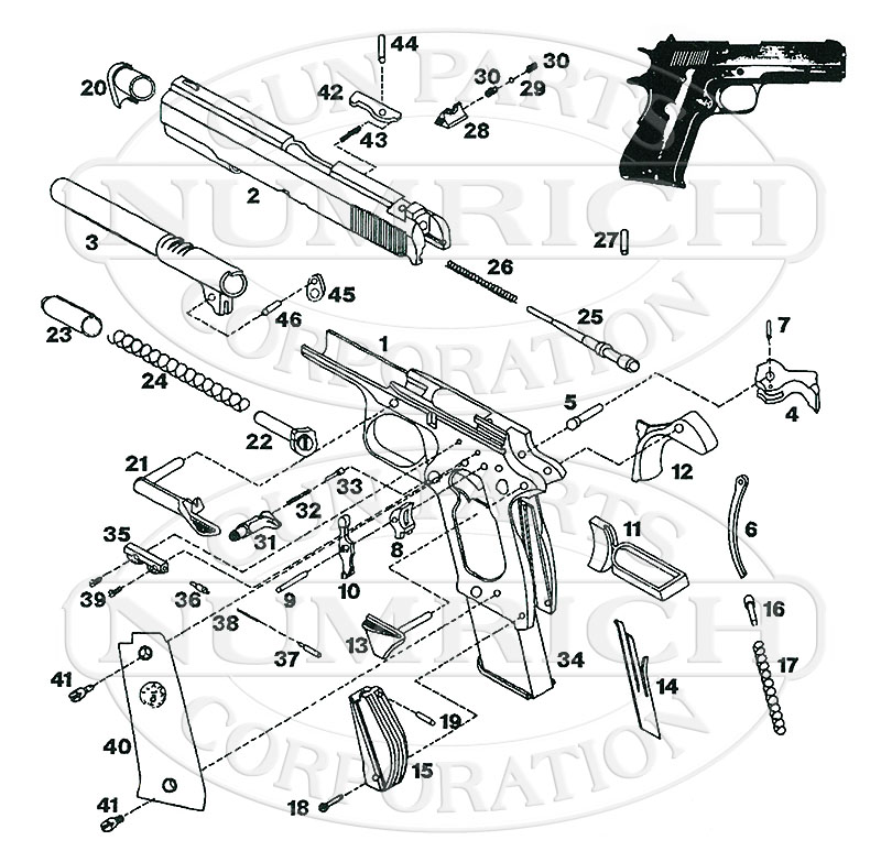 llama gun parts revolver