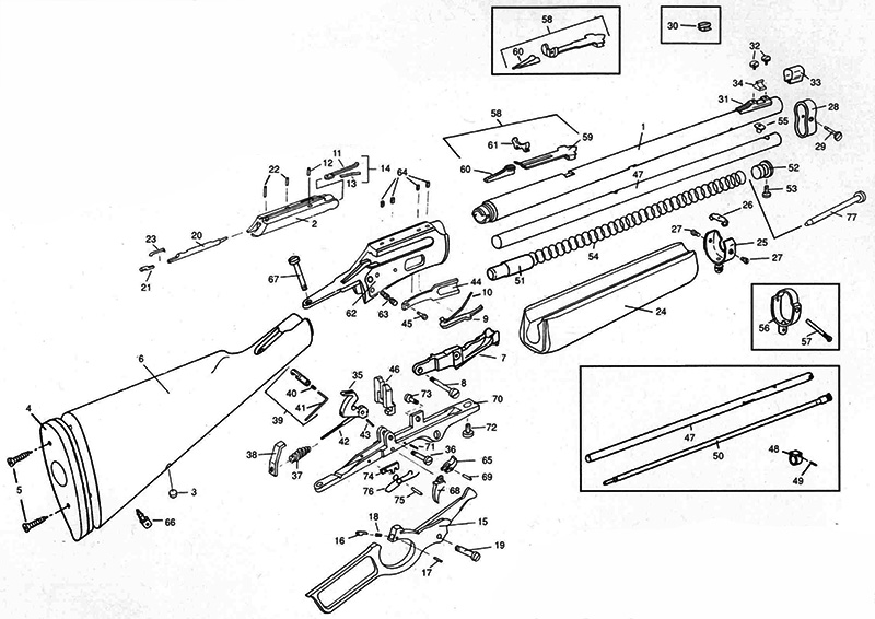 Marlin Model 1895 Parts Diagram Engine Diagram And