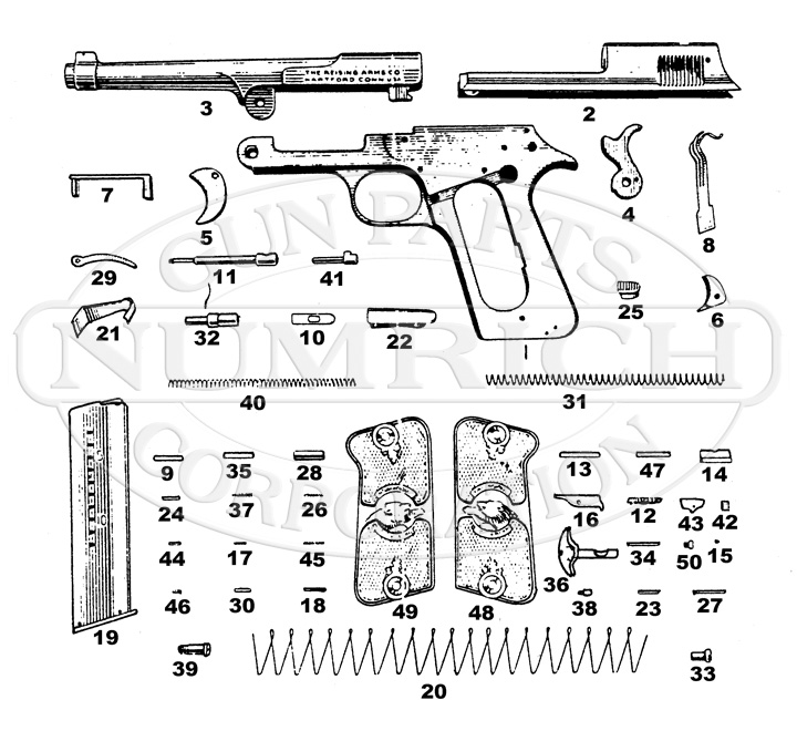 Reising 22 auto pistol best i can do is the numrich schematic malvernweather Gallery
