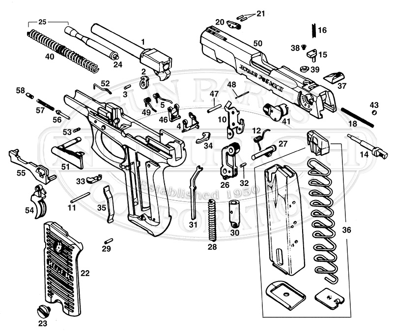 Ruger M77 Schematics And Parts List Ruger Firearms Parts