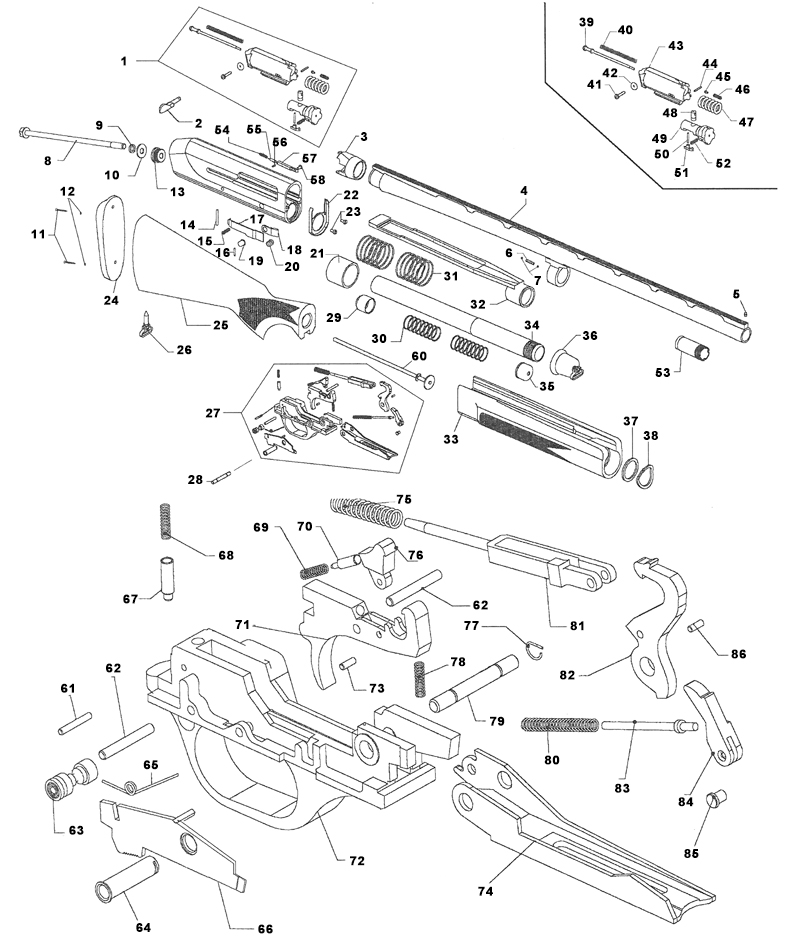 stoeger 2000 parts diagram