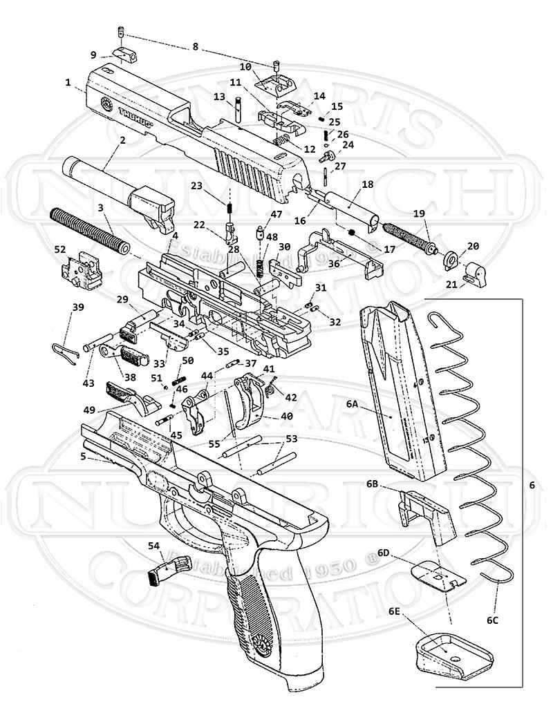 pt-24-7 accessories | numrich gun parts taurus pt99 schematics moog taurus schematics 2