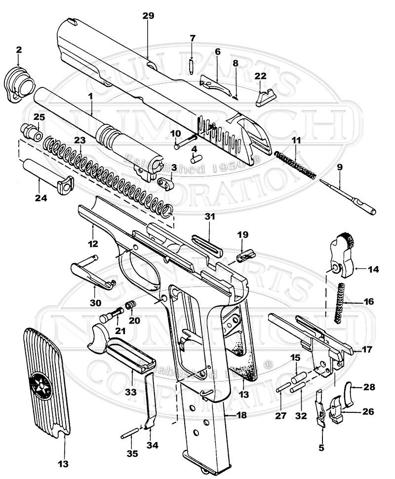 beretta m9 nomenclature diagram