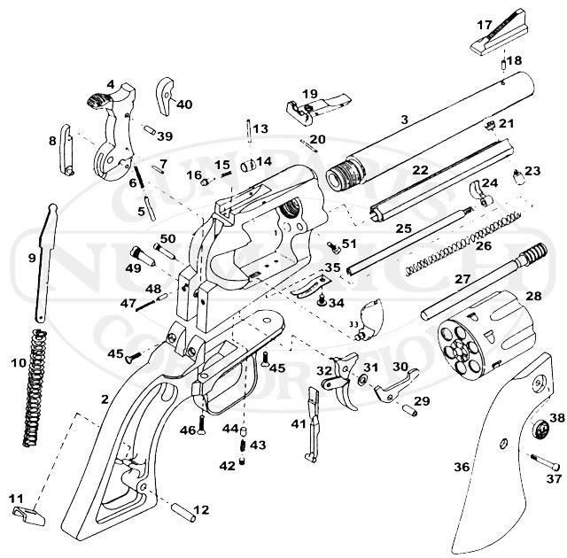 m p 40 parts diagram