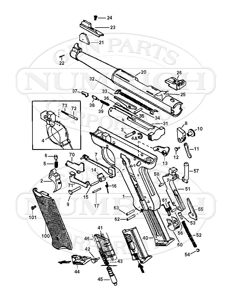 AMT Auto Pistols Lightning Pistol gun schematic