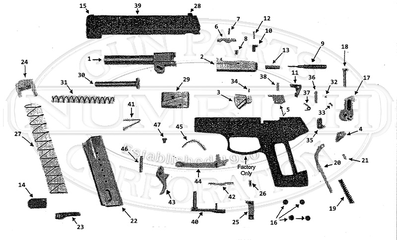 AMT Auto Pistols On Duty gun schematic