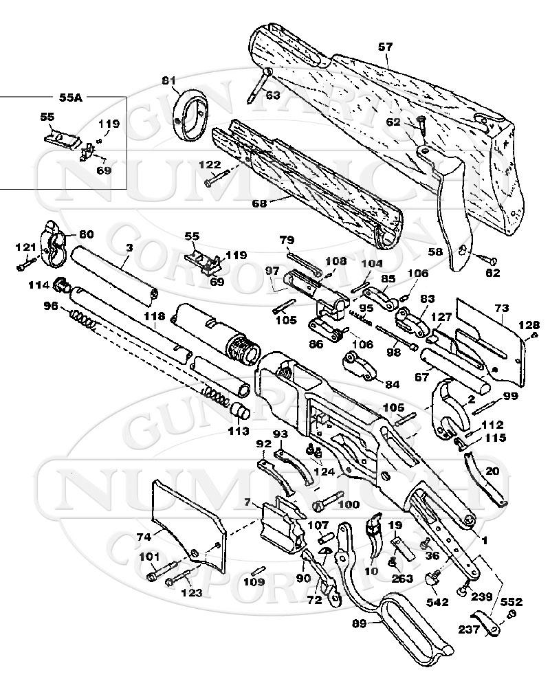 American Arms Rifles 1866 Yellowboy Carbine Replica gun schematic