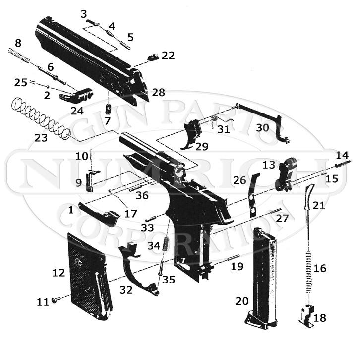 American Arms Auto Pistols CXC-22 gun schematic