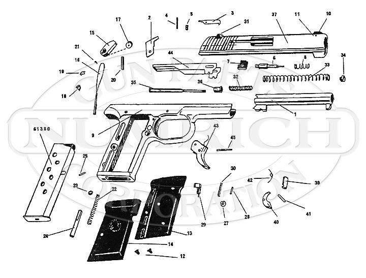 American Arms Auto Pistols Escort 380 gun schematic