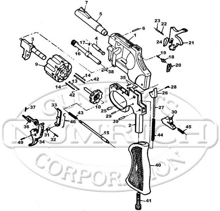 American Regent 22 Revolver gun schematic