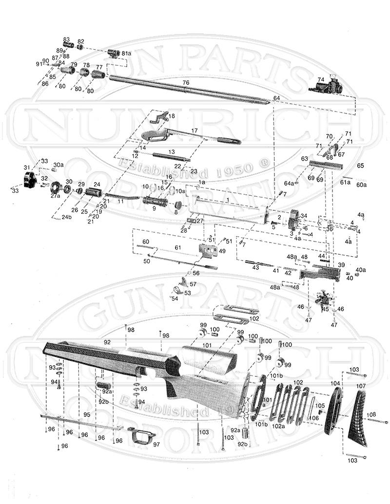 Anschutz 2002 D-RT gun schematic