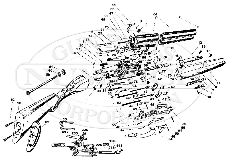 Antonio Zoli Over and Under Standard gun schematic