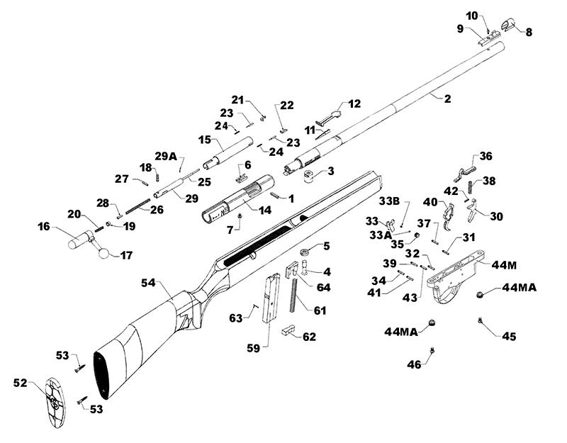 Armscor (Of The Philippines) Rifles Bolt Action Rimfire Squires Bingham 14P gun schematic