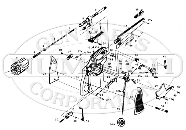 Astra Revolvers 357 Double Action Revolver gun schematic