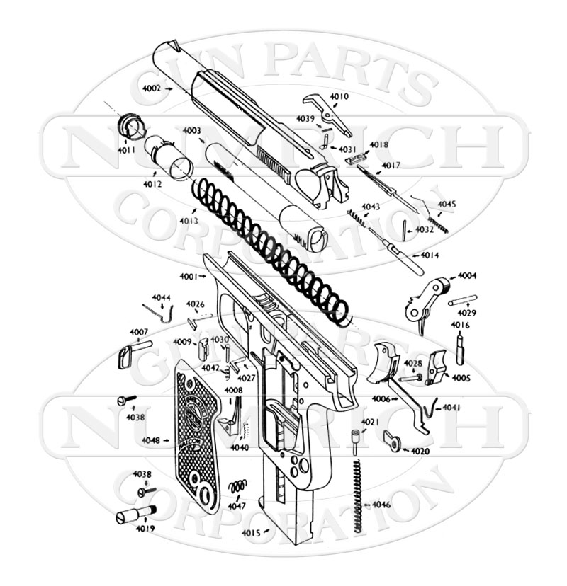 4000 falcon schematic numrich 1966 Falcon Parts astra auto pistols 4000 falcon