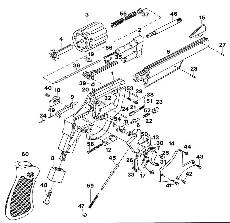 Astra Revolvers Cadix Revolver gun schematic