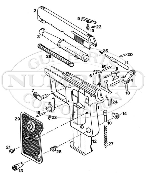 Astra Auto Pistols Camper gun schematic