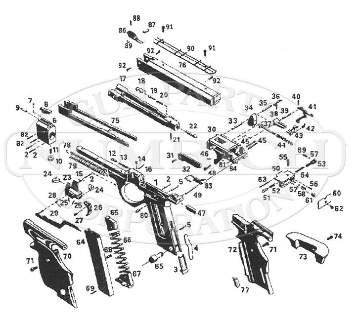 Baikal IZH35M Target Pistol Parts and Schematic | Numrich