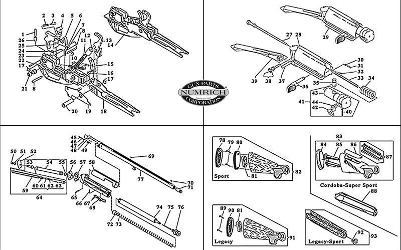 Benelli Shotguns Semi-Auto Shotguns Sport II gun schematic