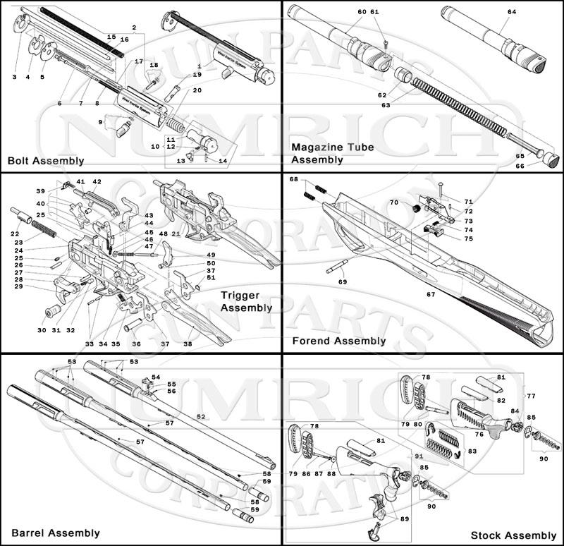 Benelli Shotguns Semi-Auto Shotguns Super Vinci gun schematic