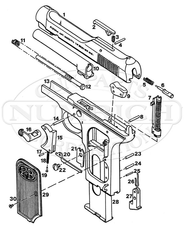 Beretta Auto Pistols 1915-1919 gun schematic