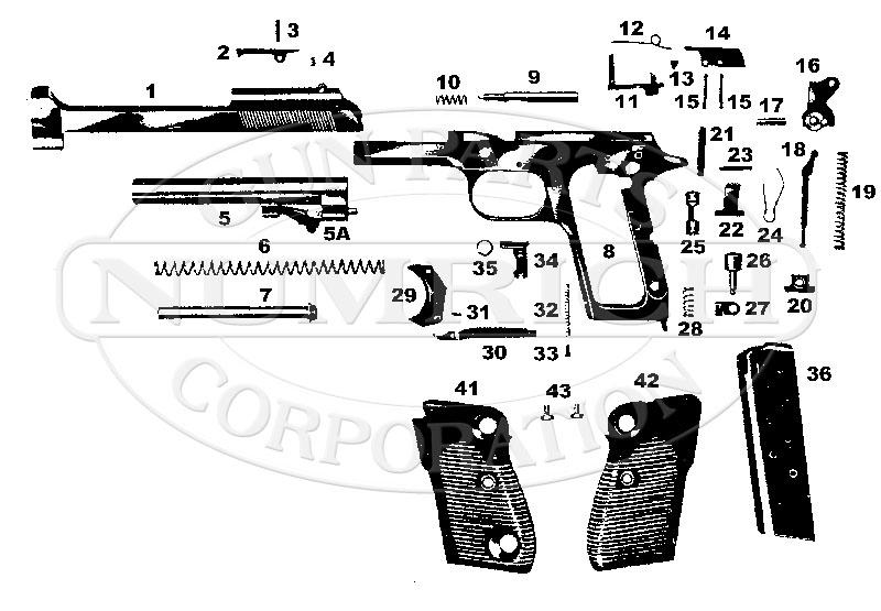 Helwan Brigadier gun schematic