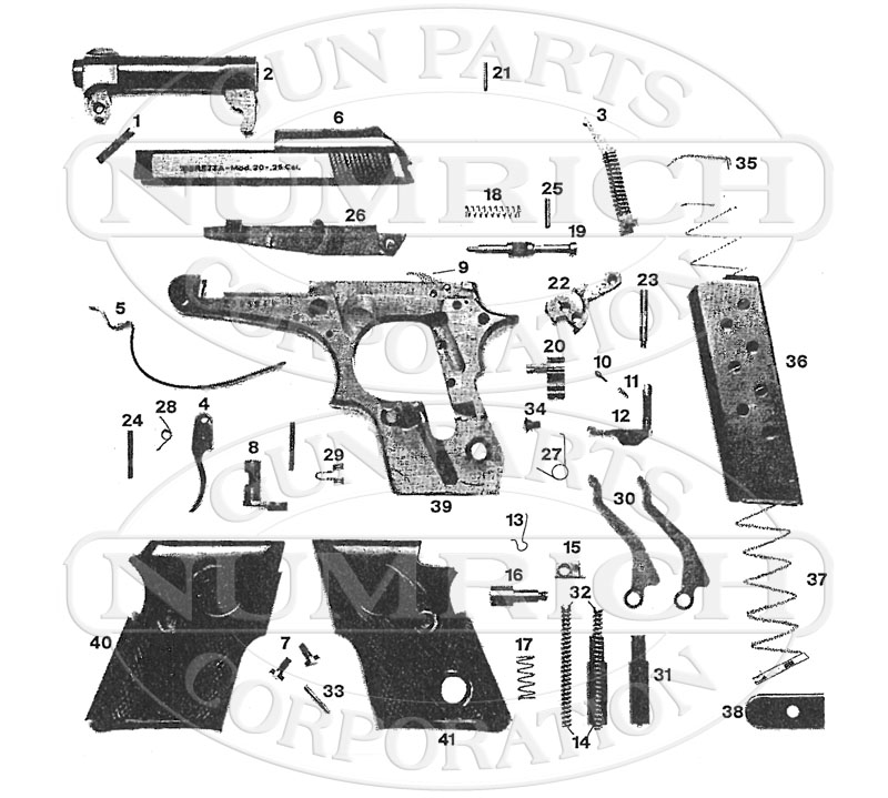 Beretta 21A Parts / Schematic | Numrich